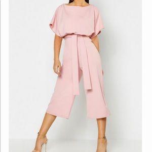 Boohoo Light pink jumpsuit